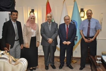 The meeting of the Presidency of the Department of Computer Sciences with the Honorable President of the University of Technology